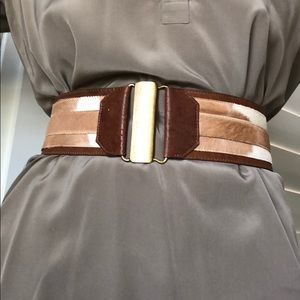 Belt- leather and cowhide clip closure. Gorgeous!